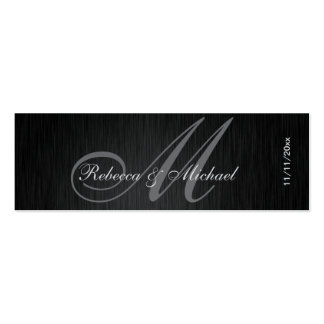 Etiquetas elegantes del favor del boda del monogra tarjetas de visita