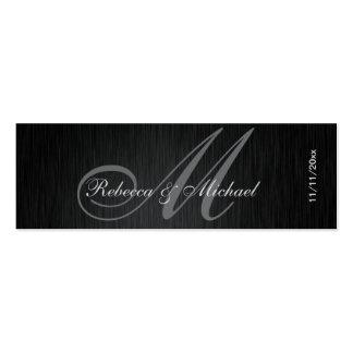 Etiquetas elegantes del favor del boda del tarjetas de visita mini