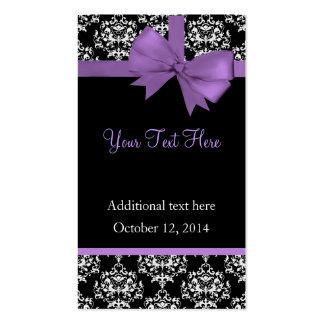 Etiquetas elegantes del regalo de boda del damasco tarjetas de visita