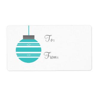 Etiquetas elegantes del regalo de vacaciones del etiquetas de envío