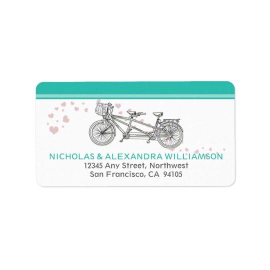 Etiquetas en tándem del remite de la bicicleta