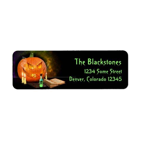Etiquetas espeluznantes del remite de Halloween Etiqueta De Remitente