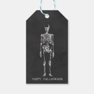 Etiquetas esqueléticas del regalo de Halloween