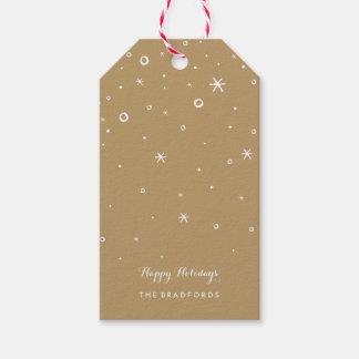 Etiquetas estacionales del regalo de vacaciones de etiquetas para regalos