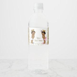 Etiquetas étnicas de la botella de agua de la