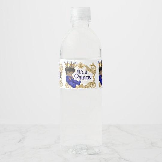 Etiquetas étnicas de la botella de agua del