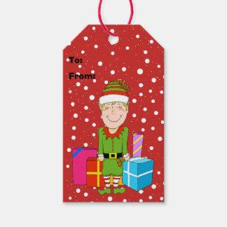 Etiquetas felices del regalo del navidad del