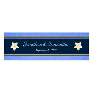 Etiquetas florales azules rústicas del favor del tarjetas de visita mini