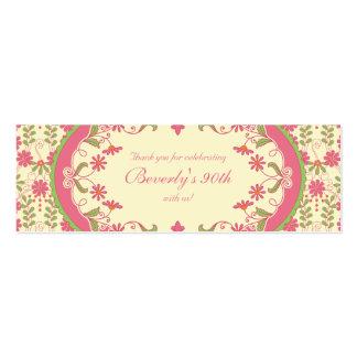 Etiquetas florales del favor de la margarita del tarjetas de visita mini