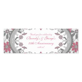 Etiquetas florales del favor de la margarita del V Tarjetas De Visita
