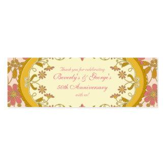Etiquetas florales del favor de la margarita tarjetas de visita mini