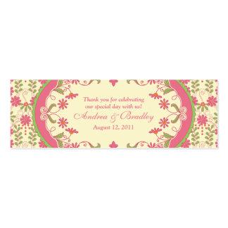 Etiquetas florales del favor del boda de la tarjetas de visita mini