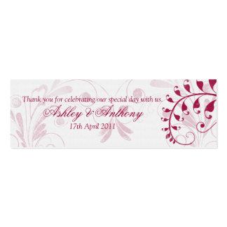 Etiquetas florales del favor del boda del vintage  plantilla de tarjeta de negocio