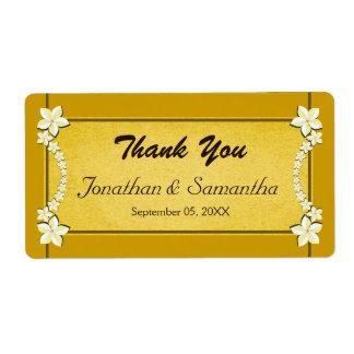 Etiquetas florales del favor del favor del boda etiqueta de envío
