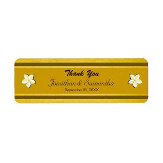 Etiquetas florales del favor del favor del boda etiquetas de remite