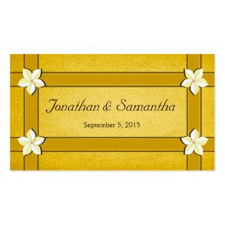 Etiquetas florales del favor del favor del boda tarjetas de visita