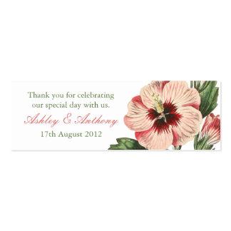 Etiquetas florales del favor del vintage de la tarjetas de visita mini