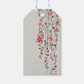 Etiquetas florales del regalo