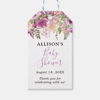 Etiquetas florales del regalo de la fiesta de