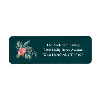 Etiquetas florales del remite de la alegría etiqueta de remitente