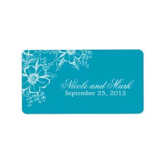 Etiquetas florales elegantes del favor del boda etiquetas de dirección