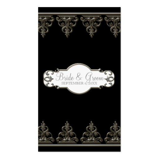Etiquetas formales del regalo del favor del pavo r tarjetas de visita