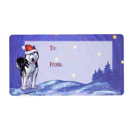Etiquetas fornidas festivas del regalo del navidad etiquetas de envío