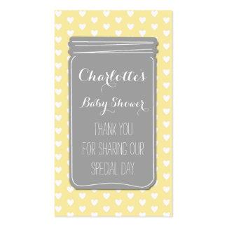 Etiquetas grises amarillas del favor de la fiesta tarjetas de visita