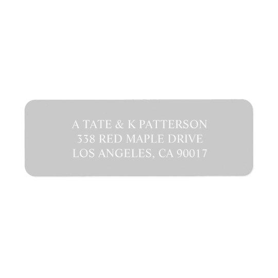 Etiquetas grises elegantes del remite de la etiquetas de remite