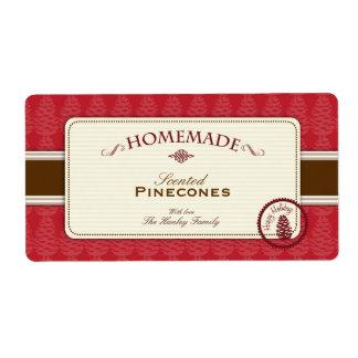 Etiquetas hechas en casa de Pinecone grandes Etiquetas De Envío