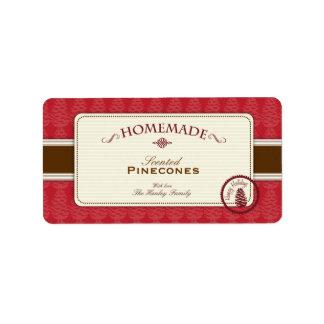 Etiquetas hechas en casa de Pinecone medias Etiquetas De Dirección