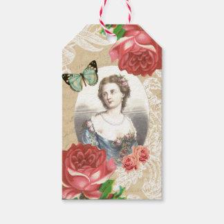 Etiquetas hermosas del regalo del vintage etiquetas para regalos