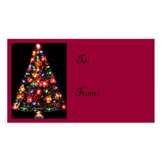 Etiquetas Jeweled del regalo del árbol de navidad Plantilla De Tarjeta Personal