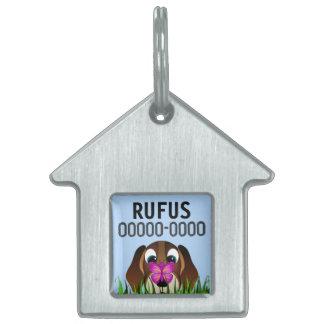 Etiquetas lindas del mascota del perro del beagle placa de mascota