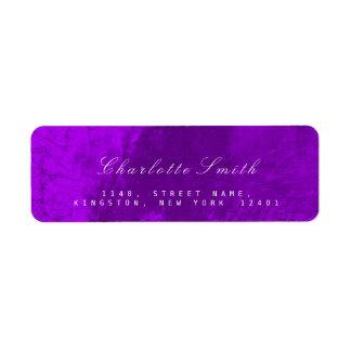 Etiquetas metálicas púrpuras del remite del