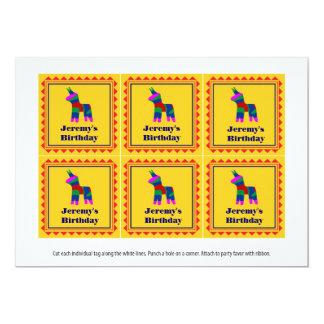 Etiquetas mexicanas del favor de la fiesta de invitación 12,7 x 17,8 cm