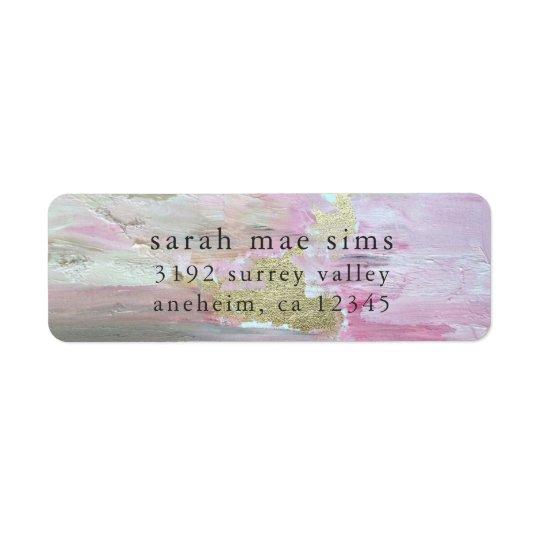 Etiquetas modernas del remite de la pintura rosada etiqueta de remite