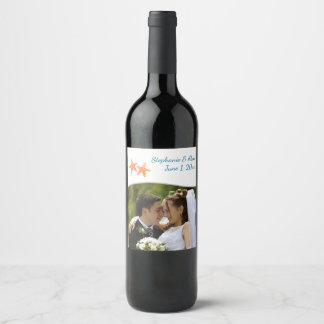 Etiquetas náuticas de la botella de vino de la
