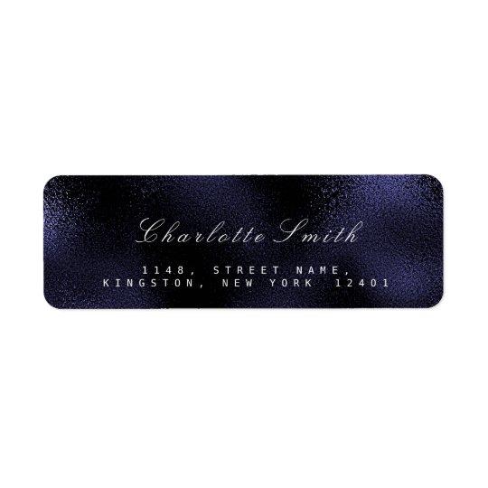 Etiquetas náuticas marinas azules de cristal del etiquetas de remite