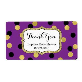 Etiquetas negras púrpuras de la fiesta de