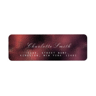 Etiquetas Noir marrón de cristal del remite de