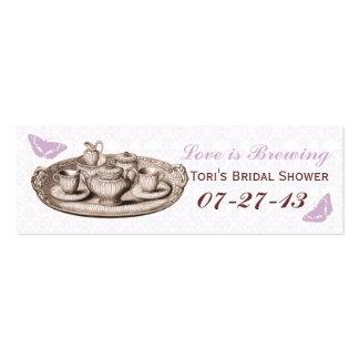 Etiquetas nupciales del bolso del regalo de la tarjetas de visita mini