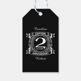 Etiquetas Para Regalos 2do escudo apenado del aniversario de boda