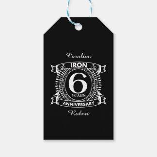 Etiquetas Para Regalos 6to escudo apenado del aniversario de boda