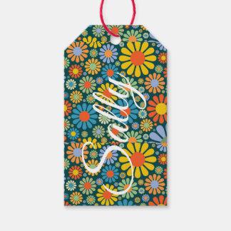 Etiquetas Para Regalos 70s flores enrrolladas retras Personnalised