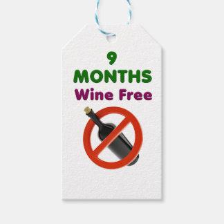Etiquetas Para Regalos 9 meses de vino liberan, mujer embarazada, bebé