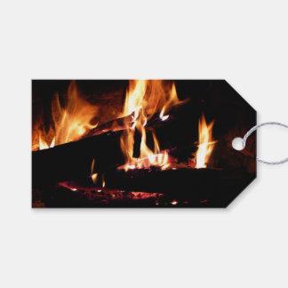 Etiquetas Para Regalos Abre una sesión la fotografía caliente del fuego