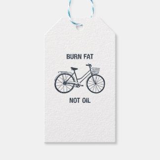Etiquetas Para Regalos Aceite de la grasa de la quemadura de la bicicleta