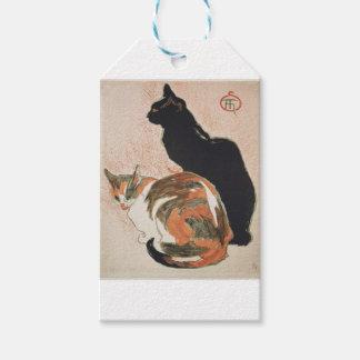 Etiquetas Para Regalos Acuarela - 2 gatos - Théophile Alejandro Steinlen