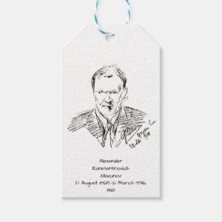 Etiquetas Para Regalos Alexander Konstamtinovich Glazunov 1918